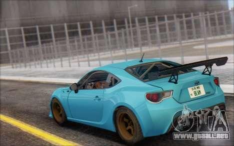 Scion FR-S 2013 Beam para visión interna GTA San Andreas