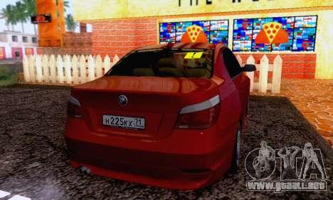 BMW 530xd para GTA San Andreas vista posterior izquierda