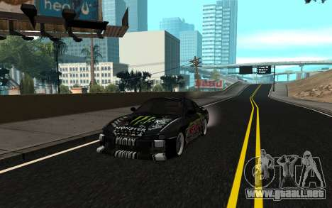 Nissan Silvia S14 Monster Energy KENDA Tire para GTA San Andreas
