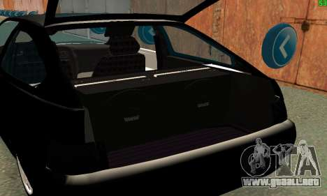 VAZ-21123 TURBO-Serpiente para visión interna GTA San Andreas