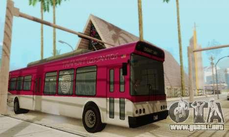 El Autobús de transporte из GTA 5 para GTA San Andreas left