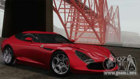 Alfa Romeo Zagato TZ3 2012 para GTA San Andreas vista posterior izquierda