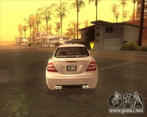 Mercedes CLK 500 из NFS most Wanted para la visión correcta GTA San Andreas