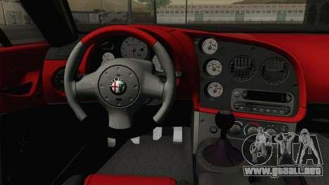 Alfa Romeo Zagato TZ3 2012 para GTA San Andreas vista hacia atrás