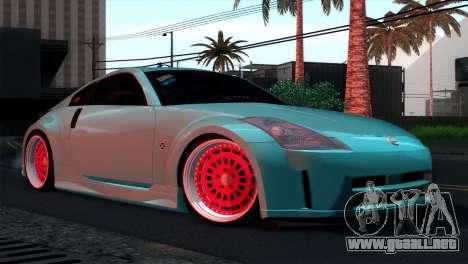 Nissan 350Z Minty Fresh para vista inferior GTA San Andreas