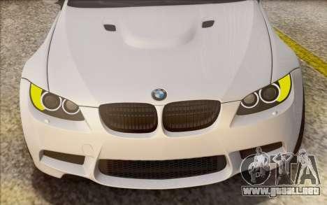 BMW M3 E92 2008 para la vista superior GTA San Andreas