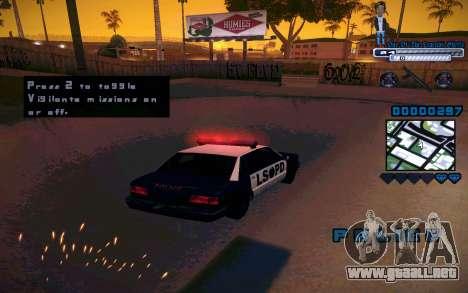 C-HUD One Of The Legends Ghetto para GTA San Andreas quinta pantalla
