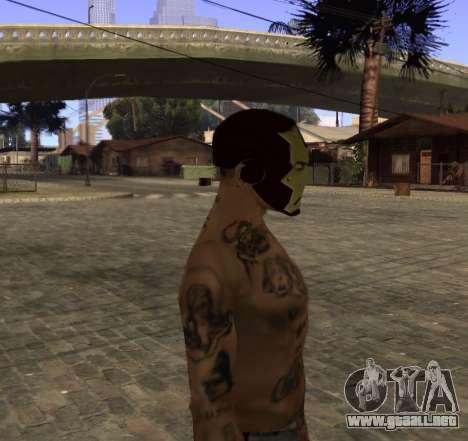 La máscara de Hierro el Hombre de CJ para GTA San Andreas tercera pantalla