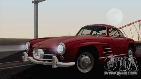 Mercedes-Benz 300SL 1955 para GTA San Andreas vista posterior izquierda