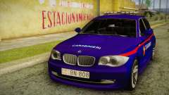 BMW 120i SE Carabinieri para GTA San Andreas