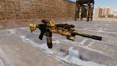 Automatic rifle Colt M4A1 Caída Camuflaje para GTA 4