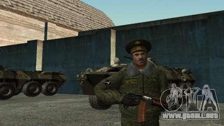 El teniente Coronel de las tropas interiores para GTA San Andreas