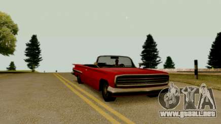 Voodoo Convertible (versión sin luces) para GTA San Andreas
