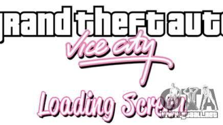 Inicio pantallas de GTA Vice City para GTA 5