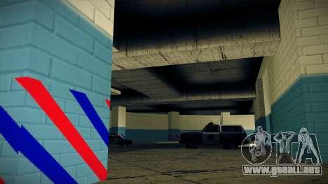 Nuevo garaje LSPD para GTA San Andreas sucesivamente de pantalla