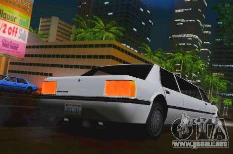 Vincent Limousine para GTA San Andreas vista posterior izquierda