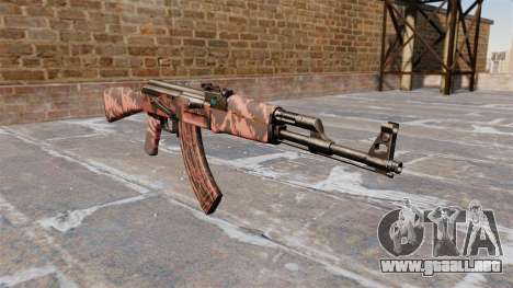 El AK-47 tigre Rojo para GTA 4
