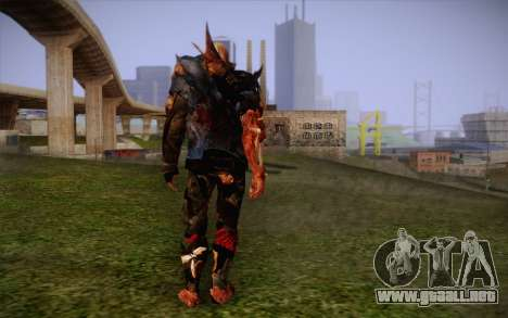 Zombie para GTA San Andreas segunda pantalla