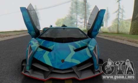 Lamborghini LP750-4 2013 Veneno Blue Star para GTA San Andreas left
