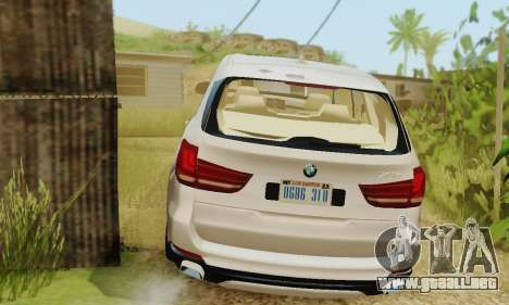 BMW X5 (F15) 2014 para GTA San Andreas vista hacia atrás