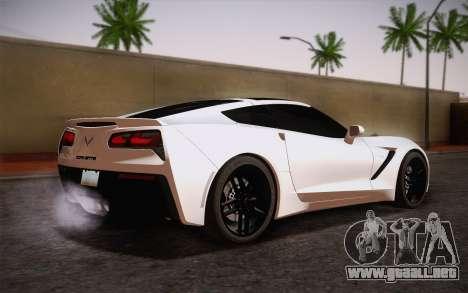 Chevrolet Corvette Stingray C7 2014 para GTA San Andreas left