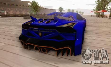 Pegassi Zentorno GTA 5 v2 para vista inferior GTA San Andreas