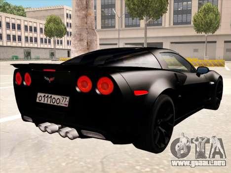 Chevrolet Corvette Grand Sport para las ruedas de GTA San Andreas