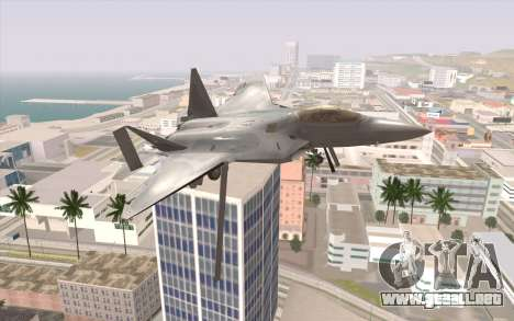 F-22 Raptor para la visión correcta GTA San Andreas