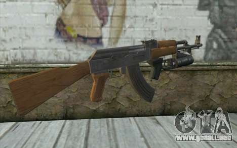AK47 with GP-25 para GTA San Andreas segunda pantalla