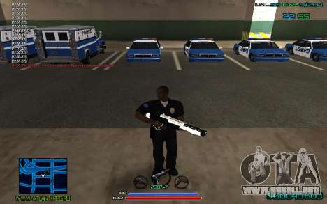 C-HUD by CONVERSION para GTA San Andreas segunda pantalla