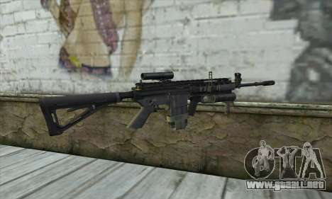 M4A1 из COD Modern Warfare 3 para GTA San Andreas segunda pantalla