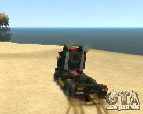 KamAZ Tractor 4410 para GTA 4 left