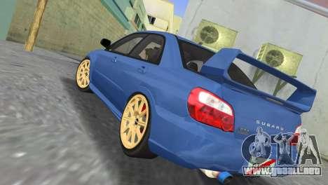Subaru Impreza WRX STI 2005 para GTA Vice City vista lateral izquierdo
