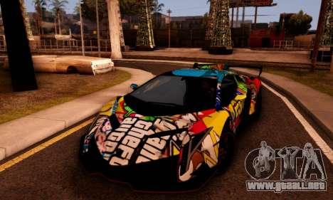 Lamborghini LP750-4 2013 Veneno Stikers Editions para la visión correcta GTA San Andreas