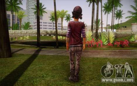 Clementine из The Walking Dead para GTA San Andreas segunda pantalla