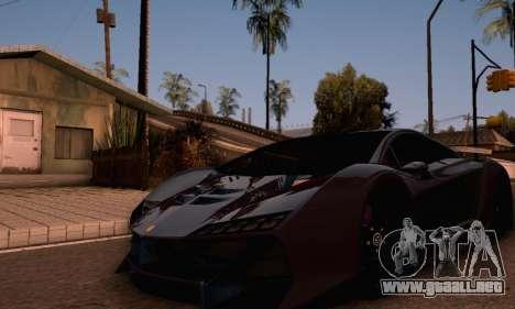 Pegassi Zentorno GTA 5 v2 para GTA San Andreas vista posterior izquierda