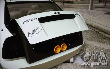 Hyundai Polis TR para GTA San Andreas vista hacia atrás