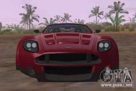 Aston Martin DBR9 para visión interna GTA San Andreas