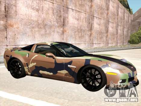 Chevrolet Corvette Grand Sport para la vista superior GTA San Andreas
