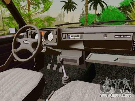 VAZ-2105 para visión interna GTA San Andreas