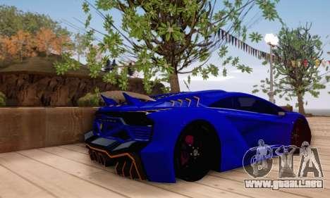 Pegassi Zentorno GTA 5 v2 para GTA San Andreas interior