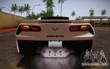 Chevrolet Corvette Stingray C7 2014 para la vista superior GTA San Andreas