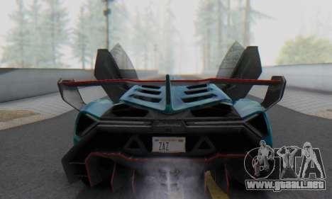 Lamborghini LP750-4 2013 Veneno Blue Star para GTA San Andreas interior