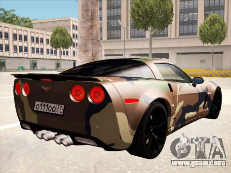 Chevrolet Corvette Grand Sport para GTA San Andreas interior