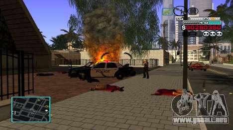 C-HUD Hast para GTA San Andreas quinta pantalla