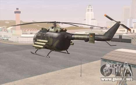 Bo-105 para GTA San Andreas vista posterior izquierda