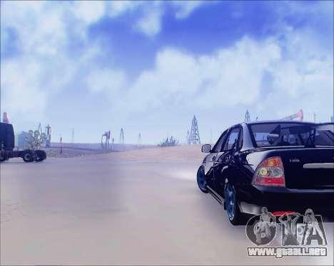 Lada 2170 Priora Tuneable para GTA San Andreas vista posterior izquierda