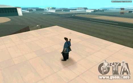 Visión eterna para GTA San Andreas segunda pantalla