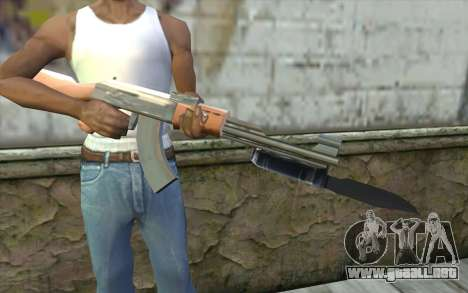 AK47 con una bayoneta para GTA San Andreas tercera pantalla