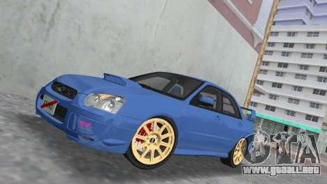 Subaru Impreza WRX STI 2005 para GTA Vice City vista lateral